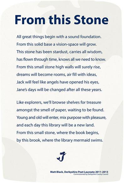Ashbourne Library Poem (glass panel)